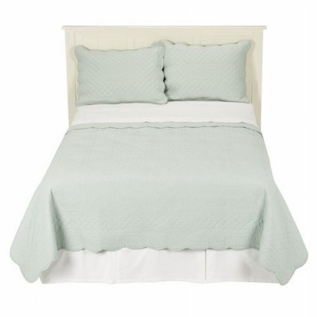 (Simply Shabby Chic Aqua Green Cottage Twin Quilt & Sham Set Coverlet Bed Cover)