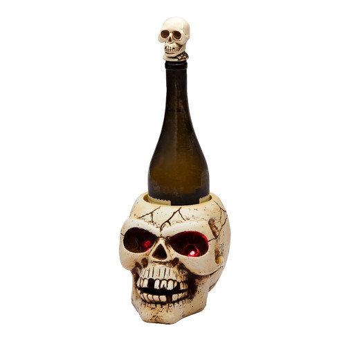 Cypress Home LED Skull 1 Bottle Tabletop Wine Rack