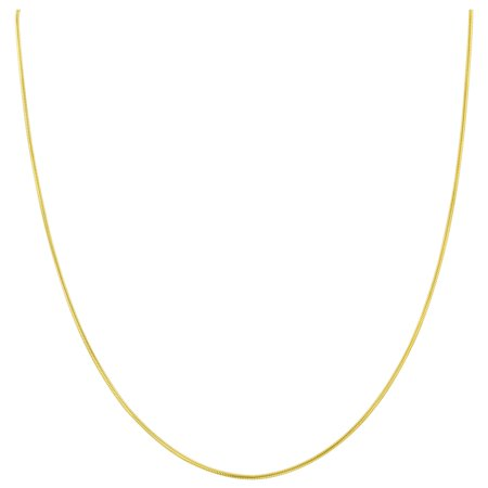 Gold Italian Crucifix (Gem Avenue 14k Gold over Italian 925 Sterling Silver Vermeil 1mm Snake Chain Diamond-Cut Necklace )