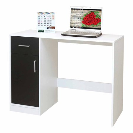 K&B Furniture 1 Drawer Laptop Desk with Computer Tower Space ()