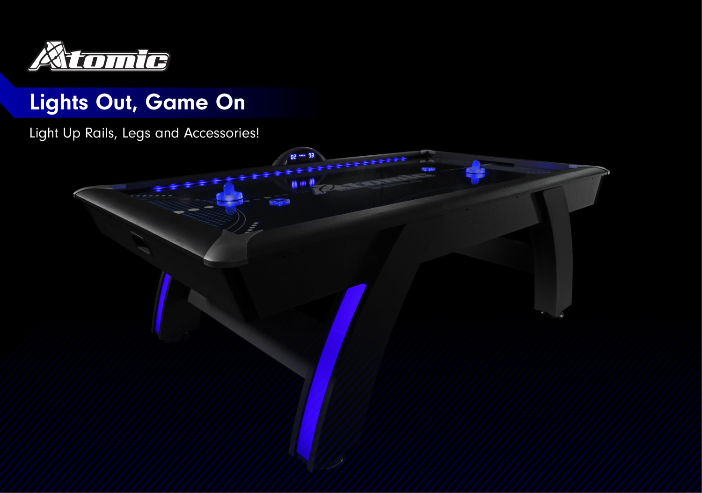 Atomic 7 5 Indiglo Led Light Up Arcade Air Powered Hockey