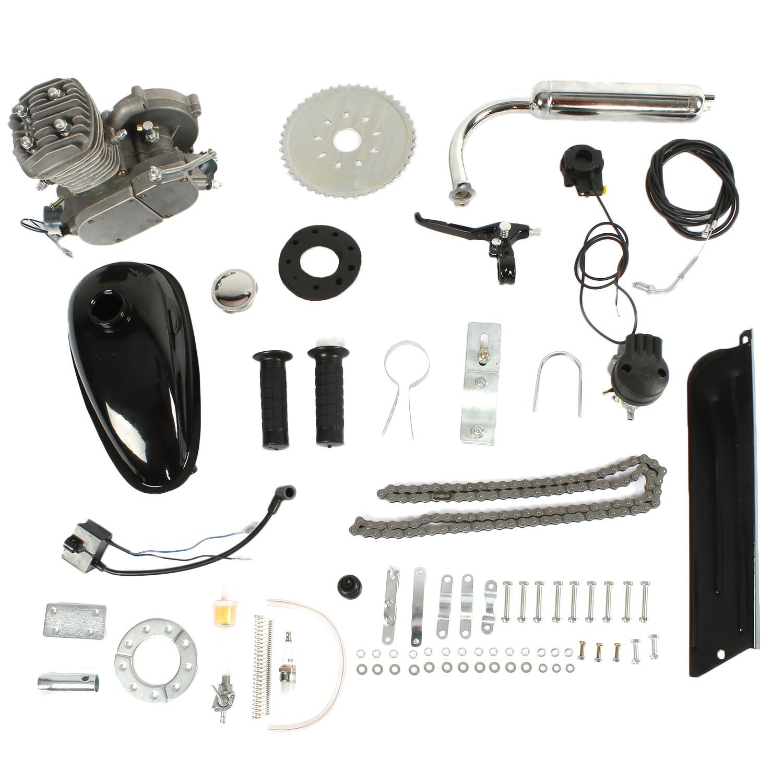 Ktaxon 80cc 2-Stroke Gas Motor Engine Kit DIY for Motorized Bicycle Bike Silver New