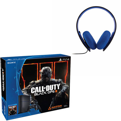 PS4 500GB Console Bundle with Call of Duty Black Ops III with Bonus Headset