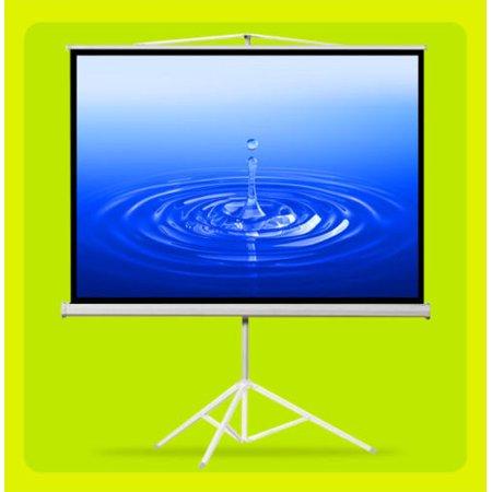 """GHP 100"""" Diagonal Tripod Matte White Portable 4:3 Projection Screen w 78""""x59"""" Viewing Area"""