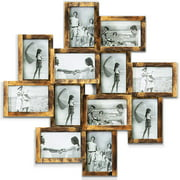 """Photo Frame Picture Frame Family Friends Union Together L24 x H24 Gallery Collage Wall Hanging Photo Frame for 6"""" x 4"""" Photo - 12 Photo Sockets - Gold Edge"""