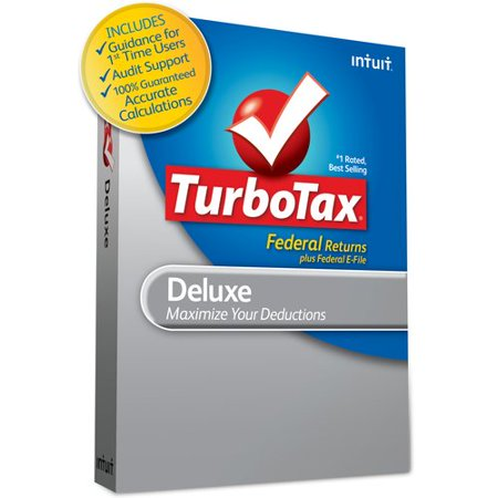 Turbotax Deluxe Federal   E File