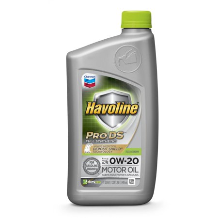 Havoline prods synthetic motor oil 0w20 for Top rated motor oil synthetic