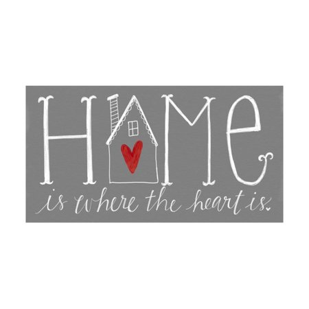 Home is Where the Heart Is Print Wall Art By Katie Doucette