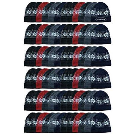 YACHT & SMITH Wholeslae Bulk Fleece Winter Beanie, Skull Cap Thermal Wear Men and Woman Unisex Bula Winter Hat