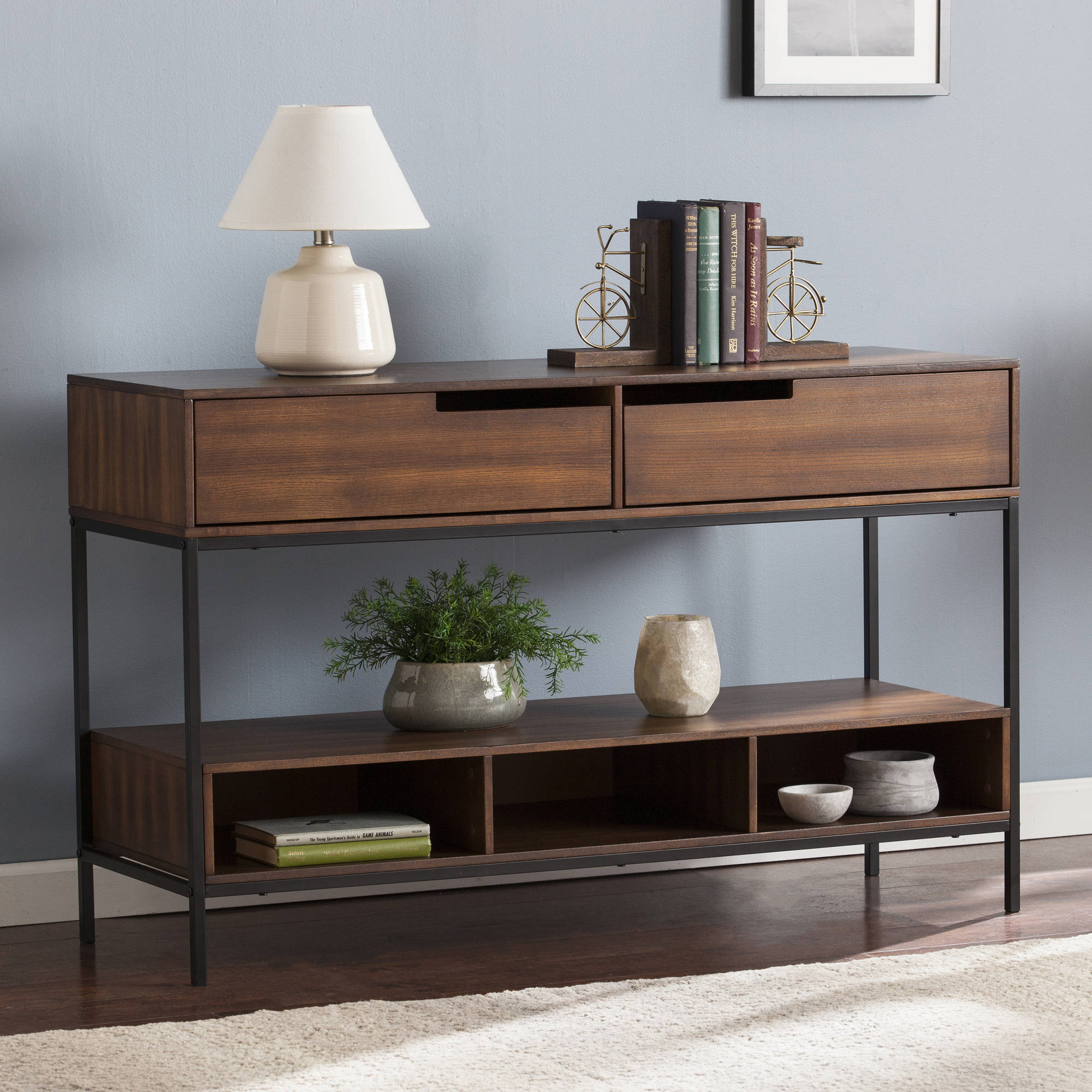 Southern Enterprises Evennett Console, Dark Tobacco
