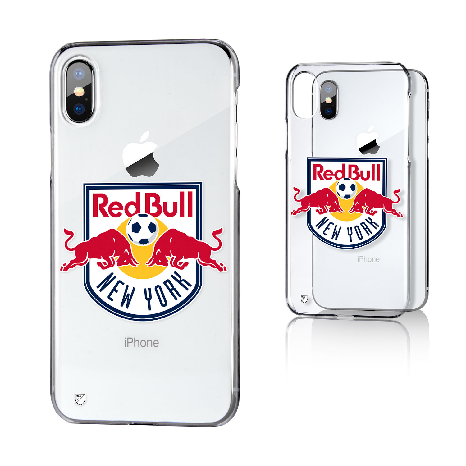 New York Red Bulls RED BULLS Insignia Clear Case for iPhone X