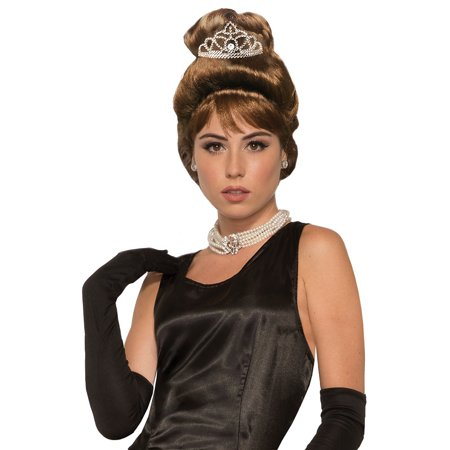 Breakfast At Tiffanys Holly Golightly And Tiara SetHalloween Costume Accessory Wig - Tiffany Costume