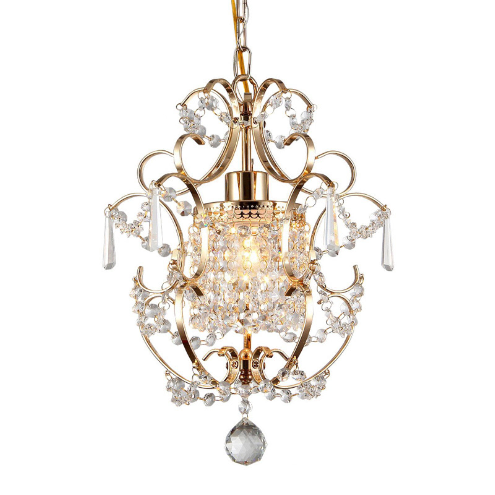 Warehouse of Tiffany 1 Light Crystal Chandelier by Supplier Generic