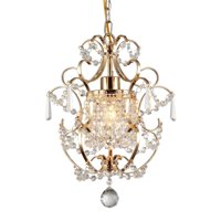 Emily 1-light Gold 11-inch Crystal Chandelier