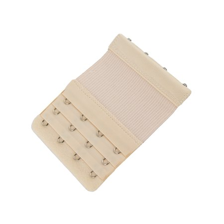 More of Me to Love Stretch Elastic Bra Extender, 4-Hook, Beige