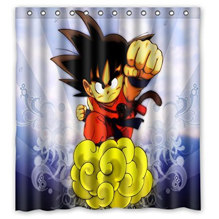DEYOU Dragon Ball Z Shower Curtain Polyester Fabric Bathroom Size 60x72 Inches