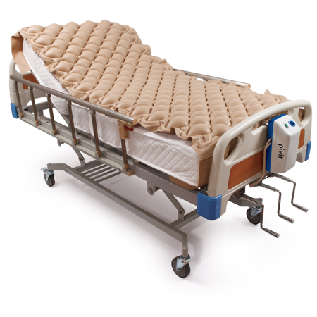 Pivit Alternating Pressure Mattress | Includes Electric Pump System and Mattress Pad Cover | Quiet Inflatable Bed Air Topper for Pressure Ulcer and Pressure Sore Treatment | Fits Standard Hospital Bed ()
