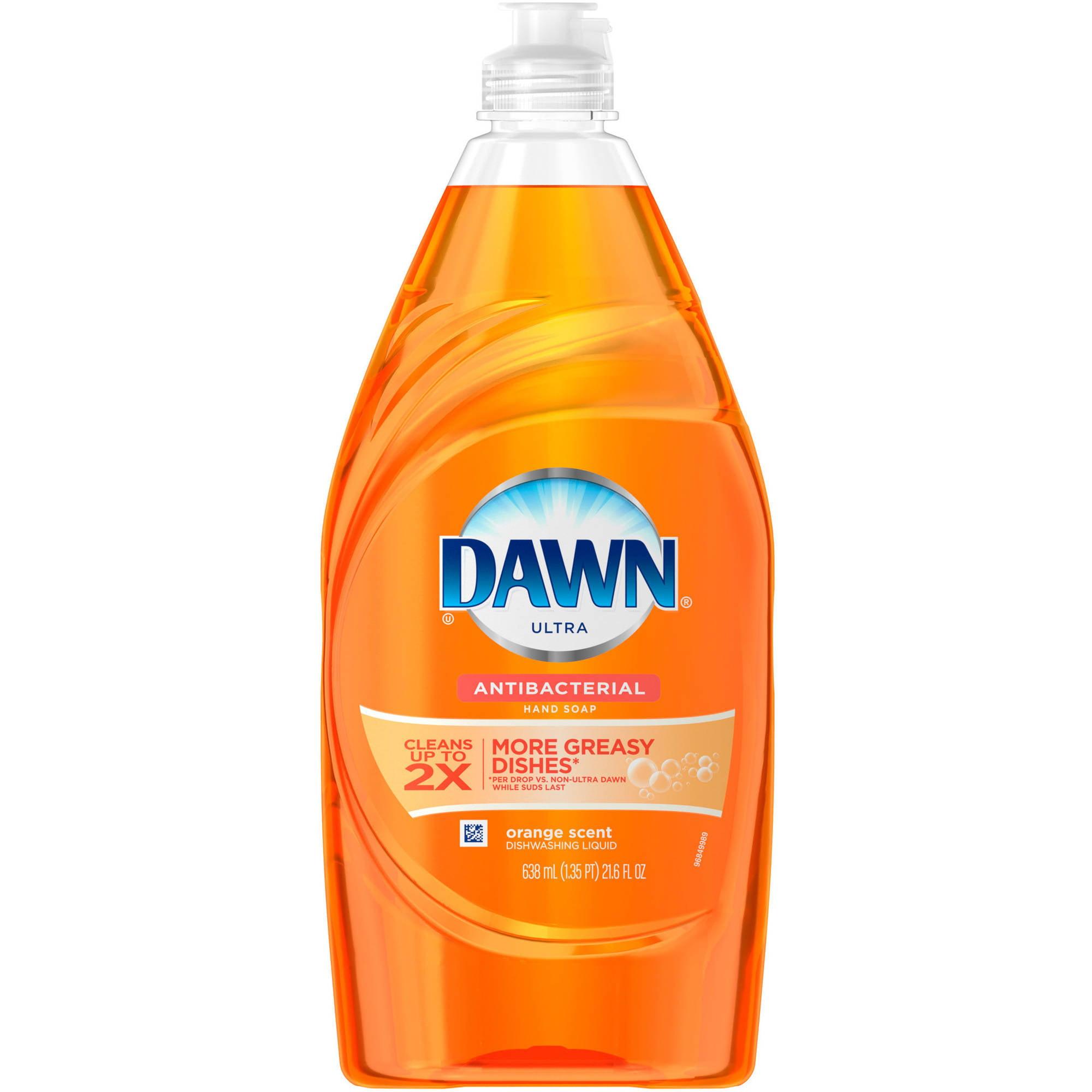 Dawn Ultra Antibacterial Hand Soap Orange Scent Dishwashing Liquid 21.6 Fl Oz