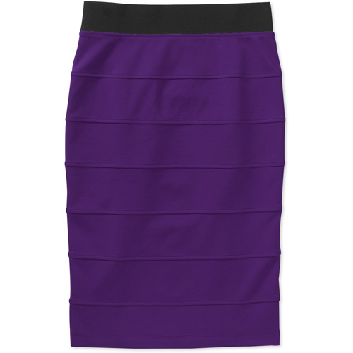 Miss Tina Women's Banded Ponte Pencil Skirt