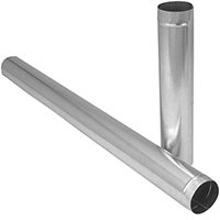 Imperial GV0393 Duct Pipe, 7 in Dia, Round Duct, Galvanized 10 - Metal Ducting Pipe