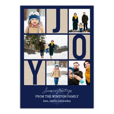 Personalized Holiday Photo Card - Peace & Joy for $<!---->