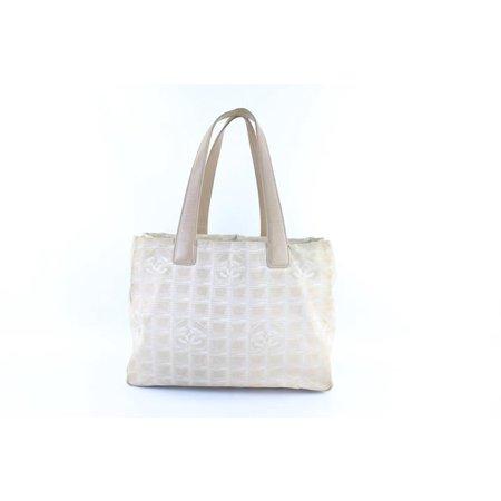 6a13f1c6c61047 Chanel - New Line Travel Tote 223690 Beige Canvas X Leather Shoulder Bag -  Walmart.com