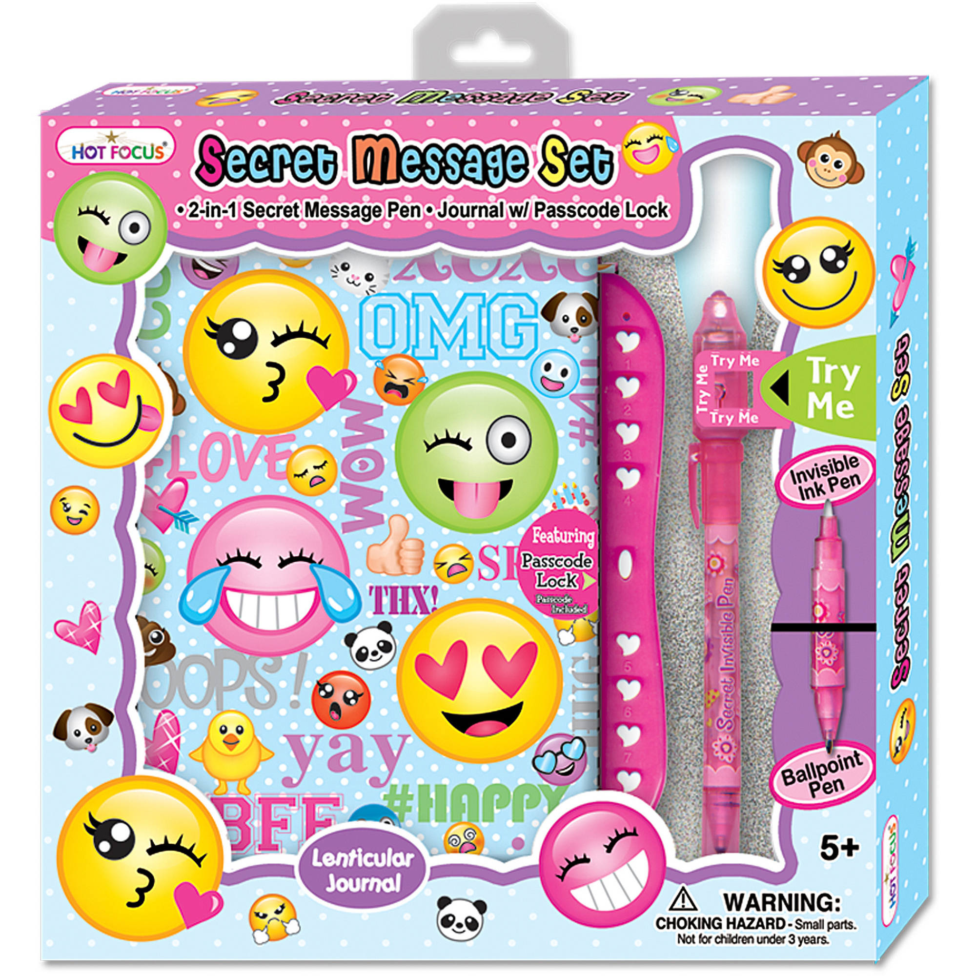 Hot Focus Secret Message Set with Passcode Lock, Emoji