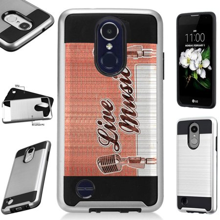 For Alcatel 7 Folio | T-Mobile Revvl 2 Plus Case Brushed Metal Texture Hybrid TPU MetoGuard Phone Cover (Live (Best Mobile Phone For Music)
