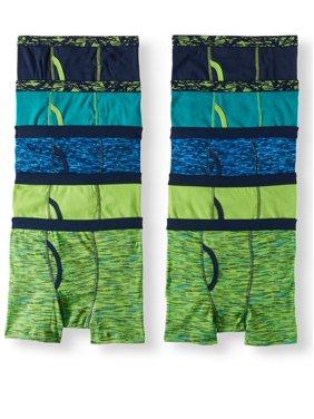 Wonder Nation Boys Space Underwear, 10 Pack Dye Boxer Brief (Little Boys & Big Boys)