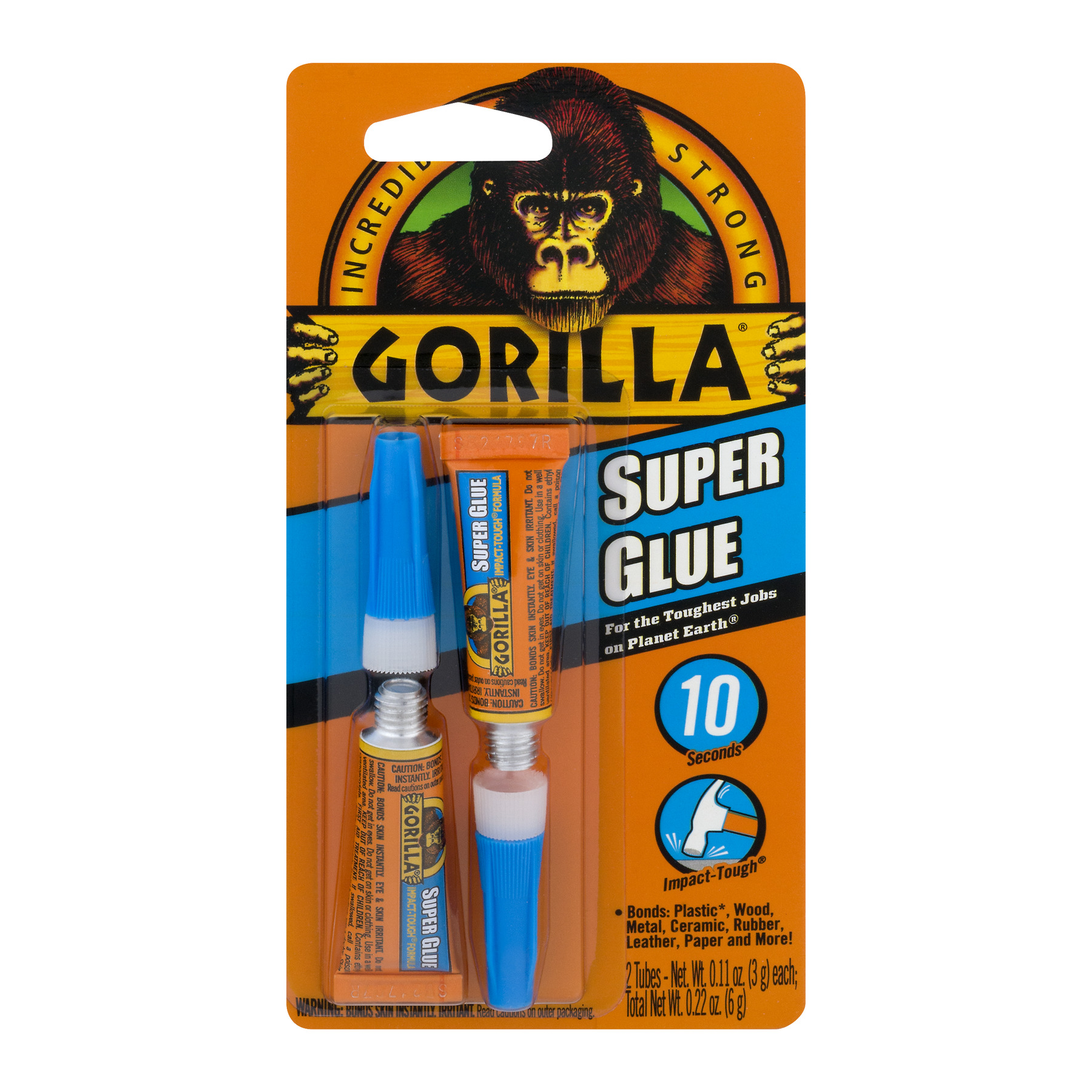 Gorilla Incredibly Strong Super Glue - 2 CT