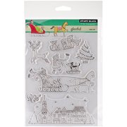 """Penny Black Clear Stamps, 5"""" x 7.5"""" Sheet, Gleeful"""