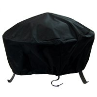 Sunnydaze Round Fire Pit Cover, Outdoor Heavy Duty, Waterproof and Weather Resistant, 36 Inch, Black