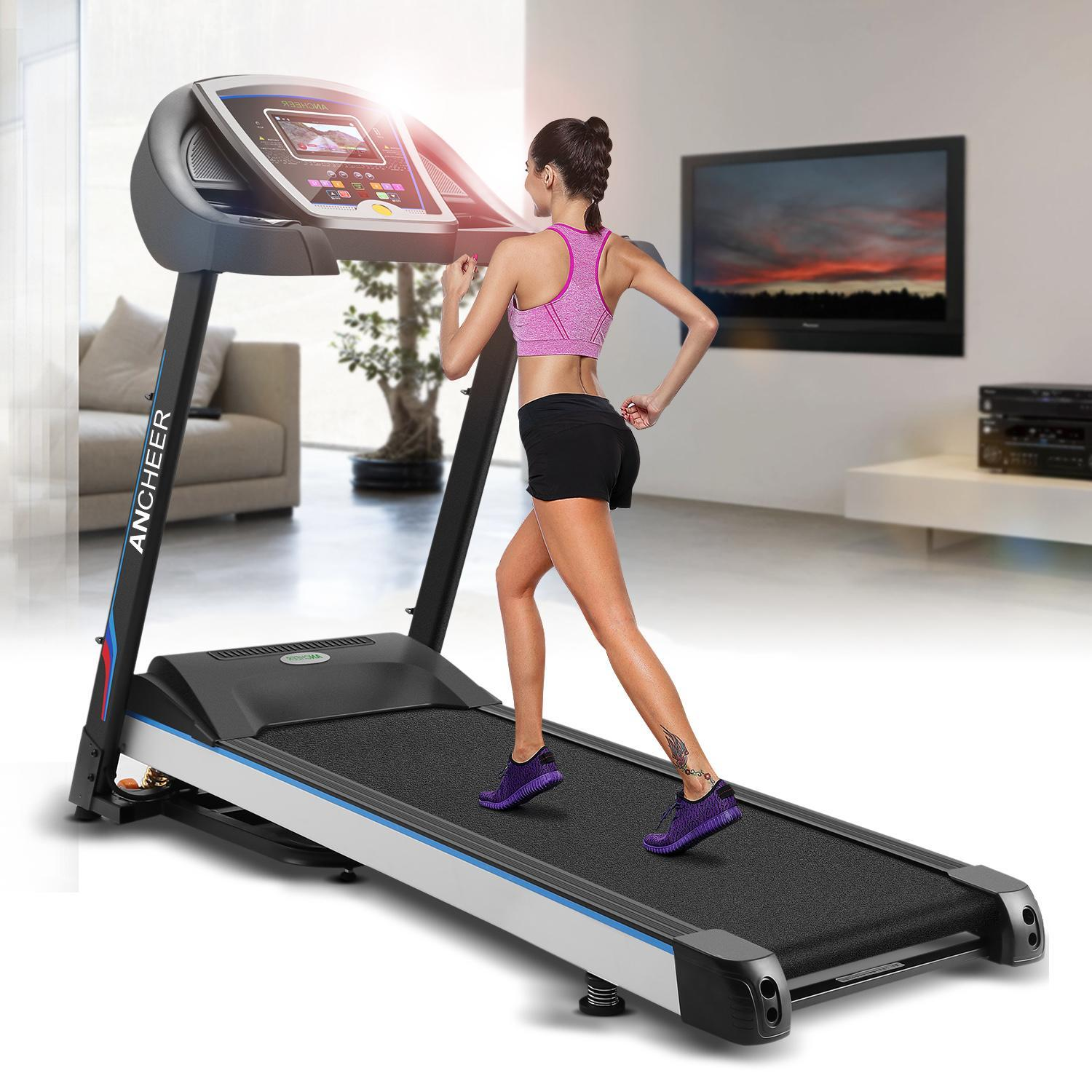Ancheer 3.0hp Folding Electric Treadmill Health Fitness Training Equipment HDPML by