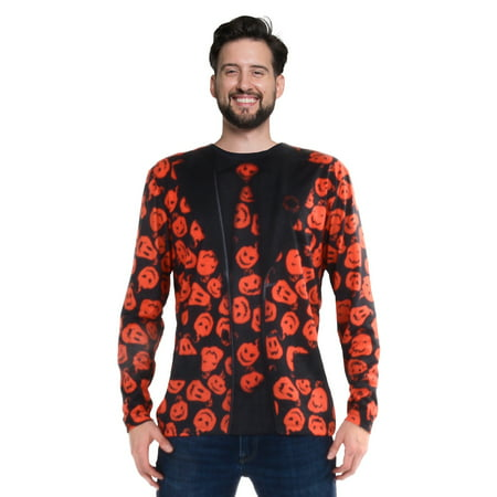 SNL David S Pumpkins Long Sleeve Suit Costume Tee - Creative Halloween Customs