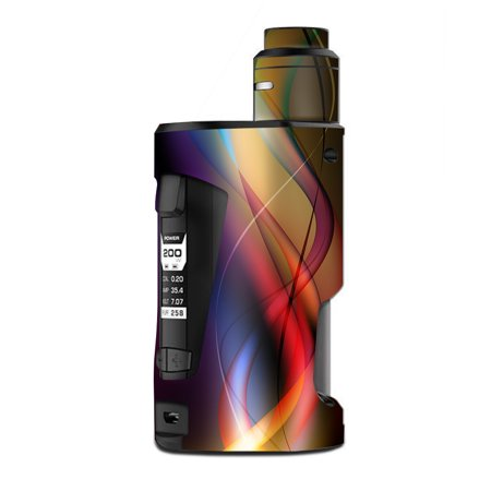 Skin Decal Vinyl Wrap for Geekvape GBox Squonk Kit 200W Vape Kit skins stickers cover/ smoke faded lines