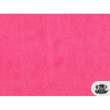 Pink Minky - Minky Solid HOT PINK Fabric By the Yard