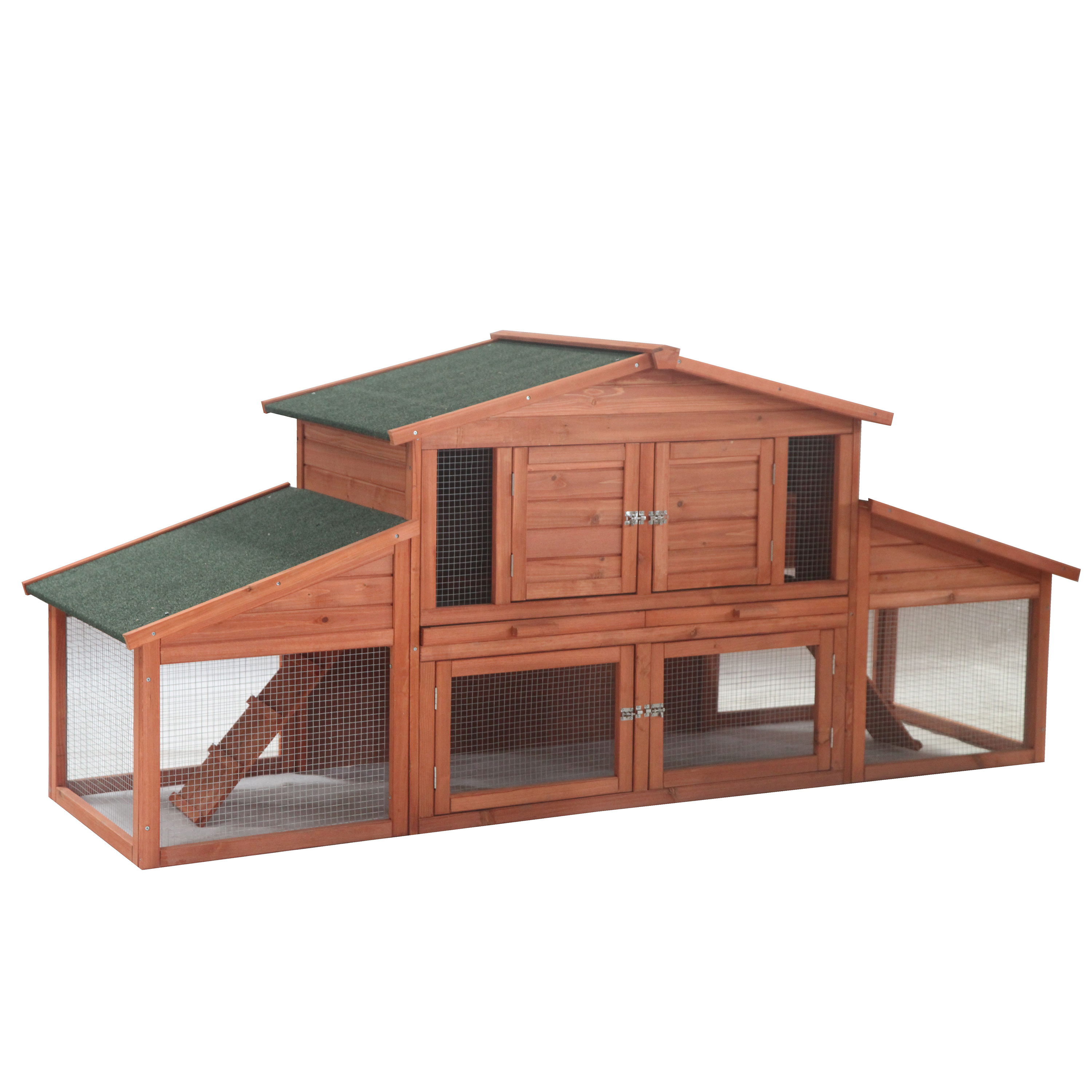 ALEKO ACCRH91X28X39 Chicken Rabbit Hutch Cage