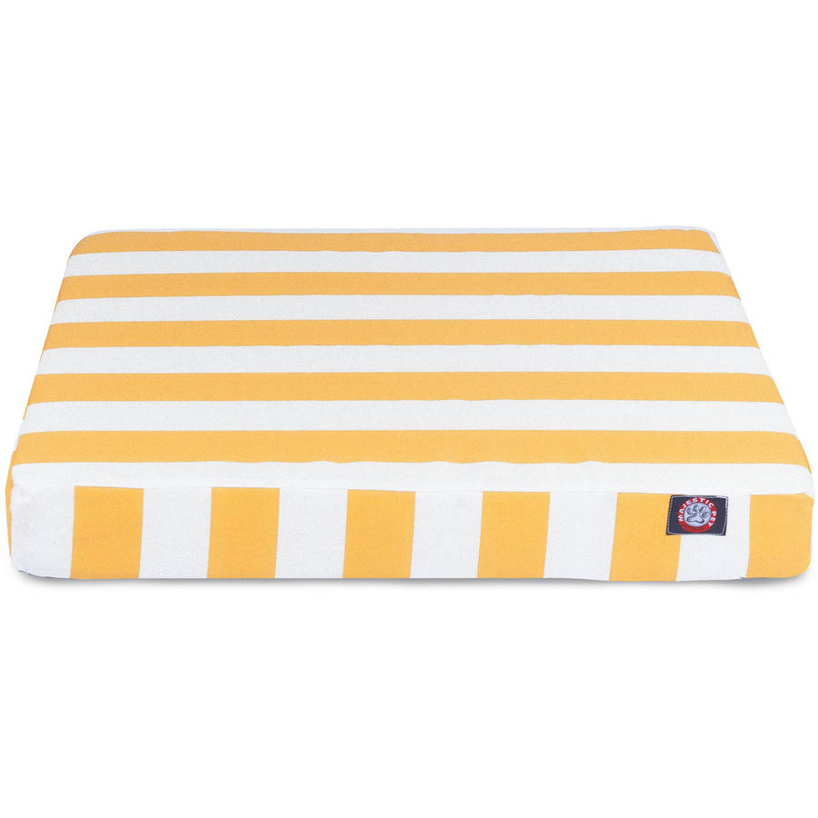 Vertical Stripe Small Orthopedic Memory Foam Rectangle Dog Bed