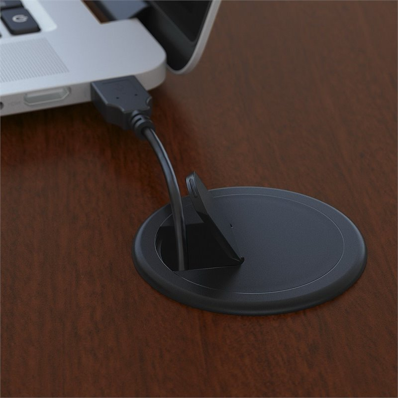 "Bush Business Series C 60"" Right 3 Drawer L-Shaped Desk in Mahogany - image 5 de 7"