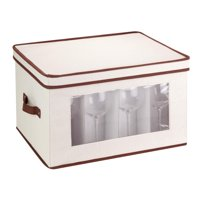 Mainstays Natural Canvas Tall Window Storage Chest