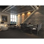 Contempo Living Inc 3D Wall Panels Plant Fiber Cave Design (10 Panels Per Box)