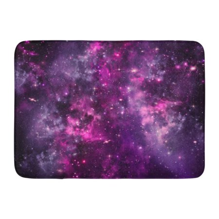 Black Outer Door - GODPOK Blue Color Purple Glitter Starry Night Sky Deep Outer Space Black Galaxy Nebula Rug Doormat Bath Mat 23.6x15.7 inch