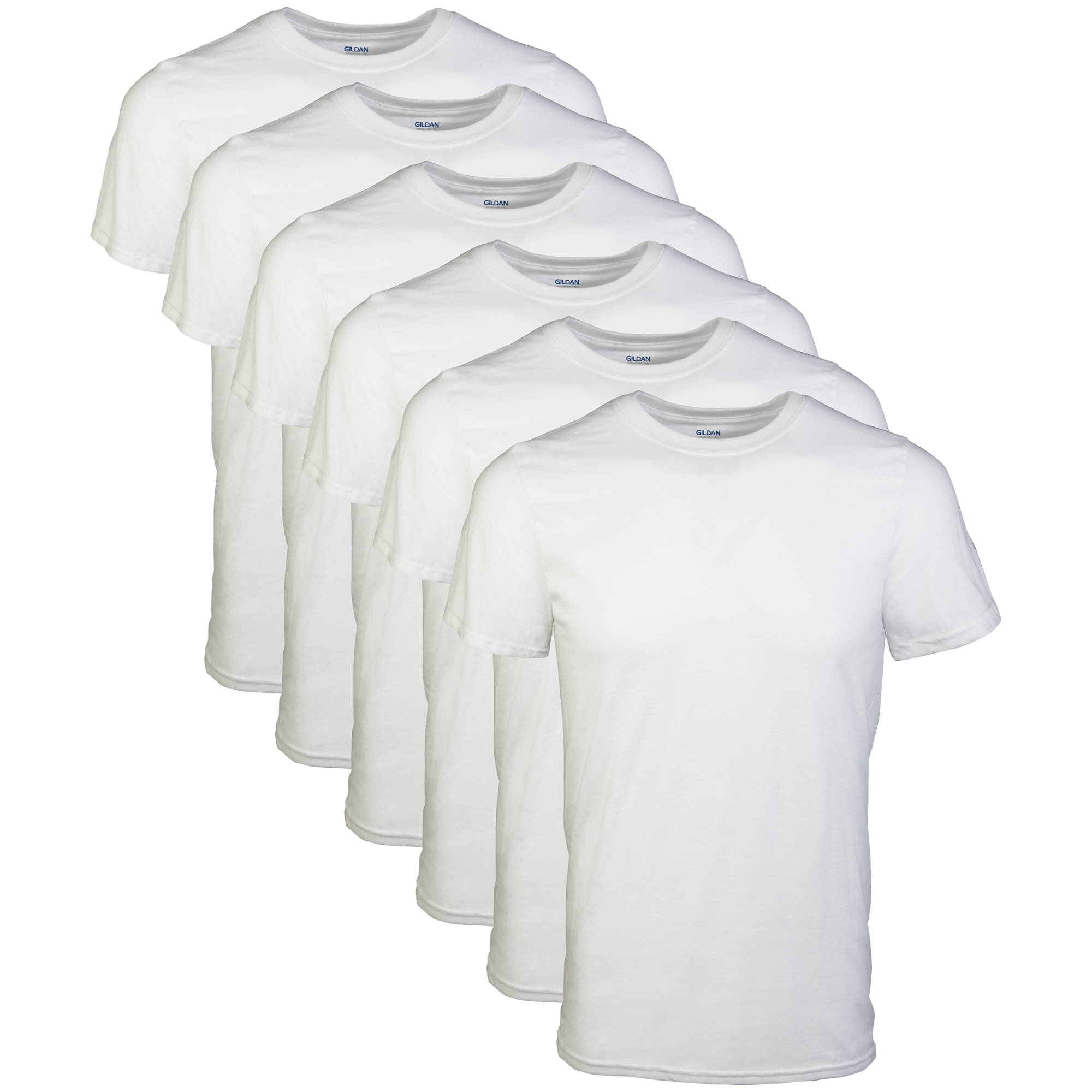 a12444bc Gildan - Gildan Men's Short Sleeve Crew White T-Shirt, 6-Pack - Walmart.com