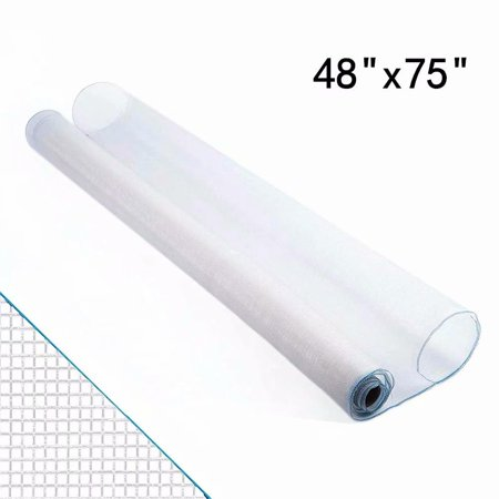 "Shatex Roll Window Screen Mesh, DIY Nylon Screen Replacement Mesh Fabric, Anti-Mosquito/Insect Barrier, 48""x75"", White"
