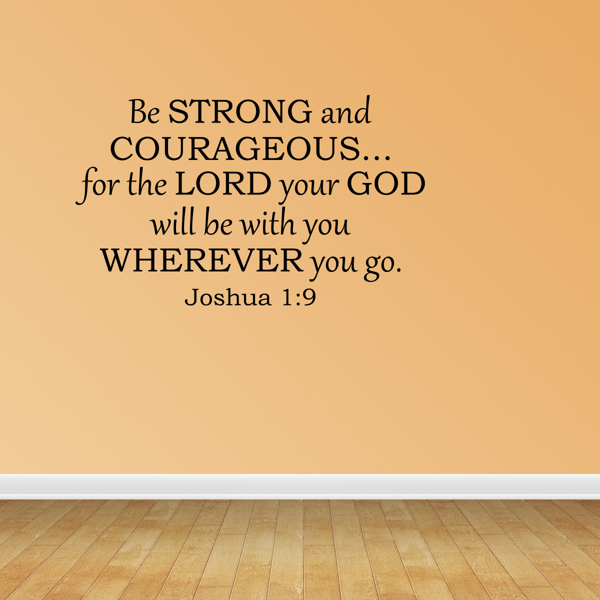 Wall Decal Quote Be Strong And Courageous Bible Verse Scripture Sticker R69