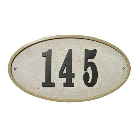 QualArc Ridgestone DIY Oval Stone Address Plaque