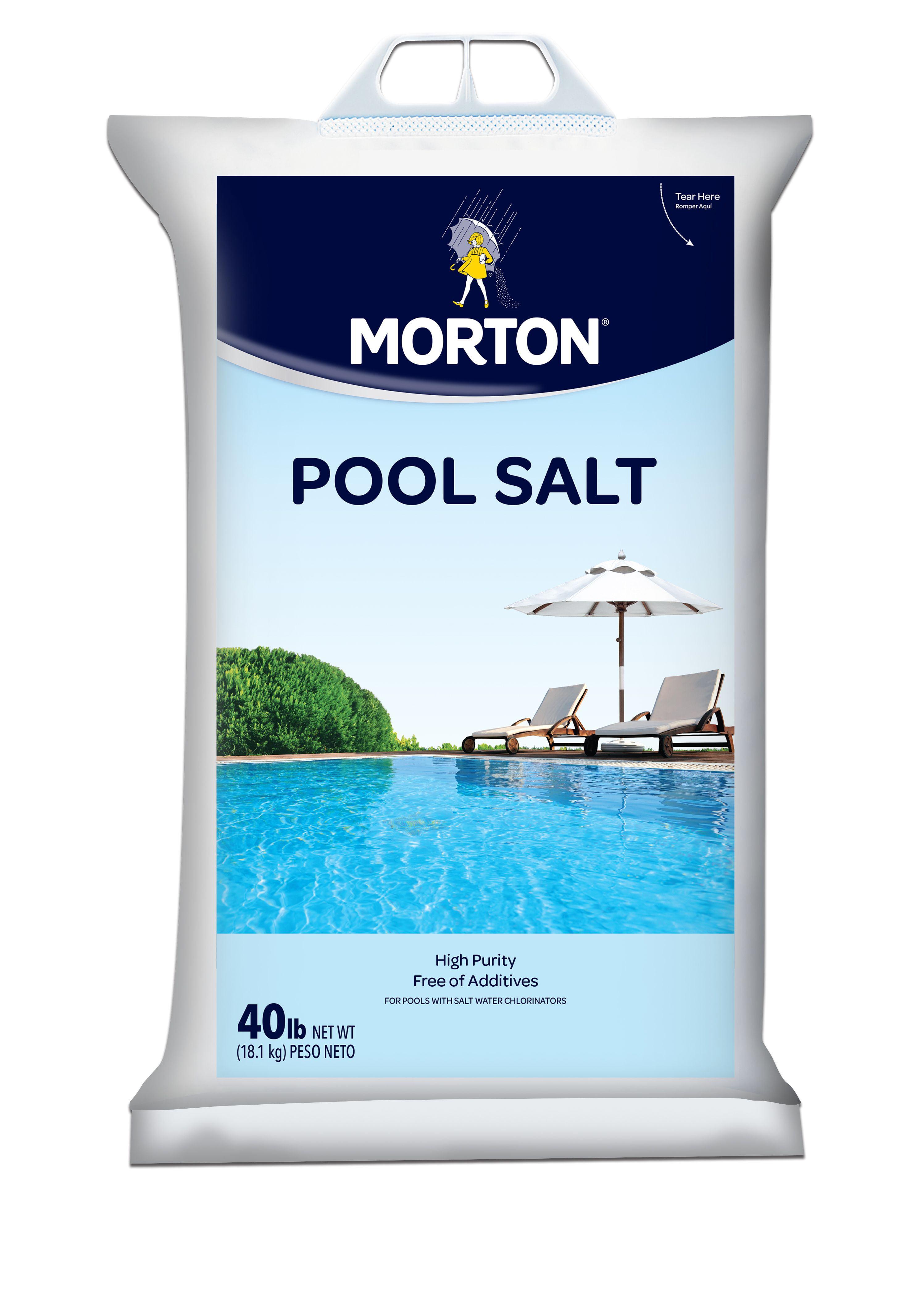 Morton Salt Pool Salt 40 Lb Bag Walmart