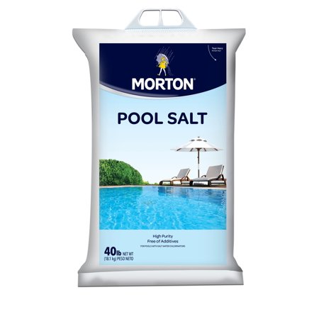 Morton salt pool salt 40 lb bag for Pool products
