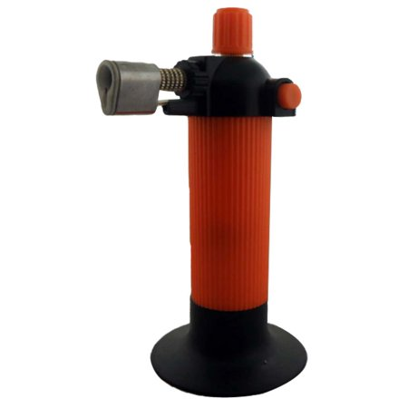 "6"" Tall Butane Micro-Torch With 2.75"" Balanced Base In Bright Orange And Black (Blue Frog USA: CR-06915)"