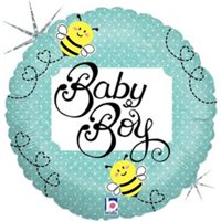Mayflower 75398 4 in. Baby Boy Bee Holo Balloon